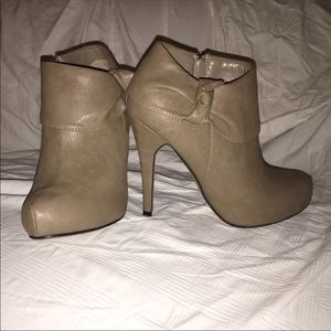 Forever 21 Taupe Booties, Size 7.5